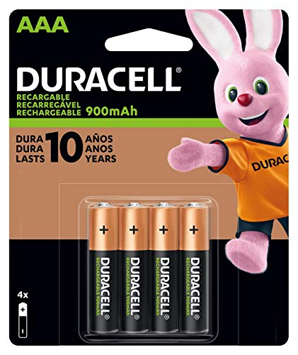Duracell Rechargeable StayCharged AAA Batteries 4 Count  Packaging May Vary
