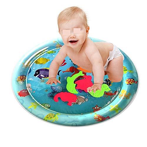 D'éclaboussure d'eau Eau Piscine Jouer gonflable Mat Tummy temps eau Mat Parfait sensoriel Jouets for bébé le développement des jeunes enfants en bas âge Centres d'activités bébés nouveau-nés Bleu Jar
