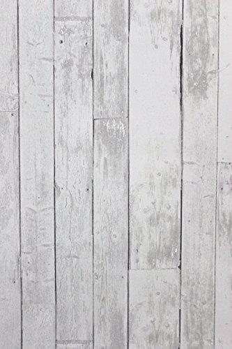 BN Wallcoverings Vlies Tapete Antik Holz rustikal hell grau verwittert