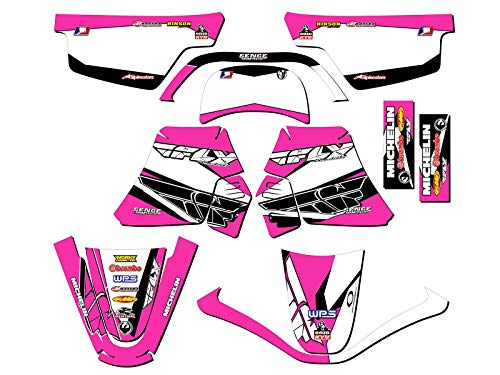 1990-2018 PW 50, Fly Racing Pink Complete kit, Senge Graphics, Compatible with Yamaha