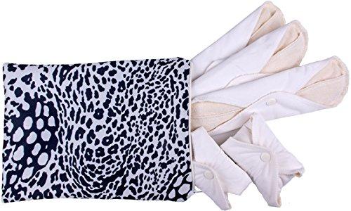Popolini Waschbare Damenbinde mit PUL-Schicht wasserdicht 5er-Set organic