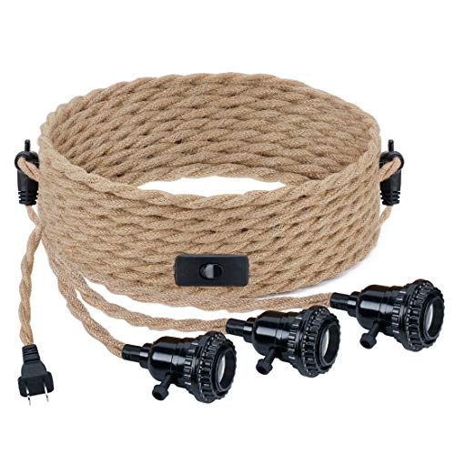 YeLEEiNO Triple Pendant Light Cord Kit with Independent...