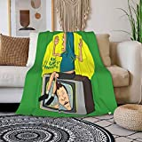 Hbgtw Zss Beavis and Butt-Head Blanket Flannel Blanket Soft and Warm Throw Blanket Double Bedding Quilt Household Quilt Cover Various Sizes