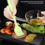 BACKTURE BBQ Grill Mat (5 pcs) 33x40 cm + 2 Brushes for Grilling and BBQ Non-Stick Grill Baking Mat Large Grill Foil… 14
