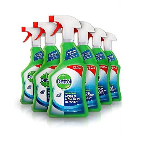 Dettol Mould and Mildew Remover Spray, 750 ml, Pack of 6 (Packaging May...