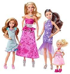 Mattel Barbie Y7562 - Barbie und ihre Schwestern im Pferdeglück Schwestern-Geschenkset, 4 Puppen - bei Amazon