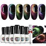 Mobray esmalte en gel magnético Galaxy Cat Eye Chameleon Color Gel esmalte de uñas Set Starry Gel Polish UV LED esmalte de uñas
