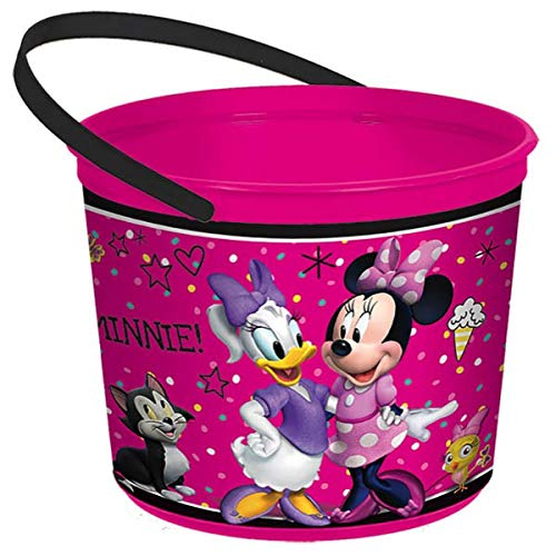 """Disney Minnie Mouse Birthday Party Toys Favours and Prize Giveaway Container (1 Piece), Lime Green, 4 1/2"""" x 6 1/4""""."""