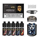 Cigarrillo Electronico cigarro electrónico vaper kit Manvap® Winner Tag Cigarrillos Electrónicos, Bobina de cerámica porosa,sin nicotina(Gris isla