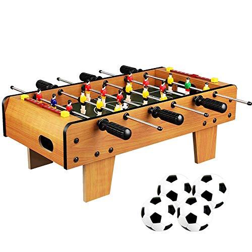 Baby-foot pour tous à partir de 6 ans Ensemble de jeu de football pour baby-foot sur 6 rangs Parent-enfant interactif Baby-foot Foosball Jouet en bois épais Table de football Poignée antidérapante