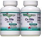 Nutricology Ox Bile 500 Mg, Vegetarian Capsules - 100 Capsules (2-Pack)