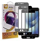 Guran [3 Pezzi Pellicola Vetro Temperato per ASUS Zenfone 4 Max ZC520KL Smartphone Copertura Completa 9H Durezza Anti-Impronte HD Pellicola Protettiva - Nero