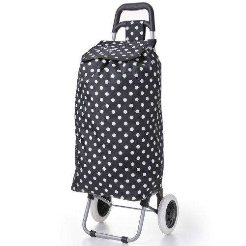 Hoppa 47litre Faltung leichte Einkaufswagens Einkaufstasche auf Rädern (Schwarze Tupfen)