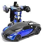 FYRMMD Gesto Sensing Deformación Coche 2.4GHz Control remoto Vehículos RC Robot con un solo botón Deformación y (coche de control remoto)
