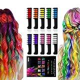 Haarkreide, 10 Farben Temporäre waschbare Haarfarbe Kreide Halloween Geburtstag Weihnachten Cosplay...