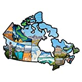 RV Stickers Canada - Travel Camper Map RV Decals for Window, Door, or Wall ~ Includes All Canadian Provinces and Territories with Scenic Illustrations (22' x 18'/Small) See Many Places