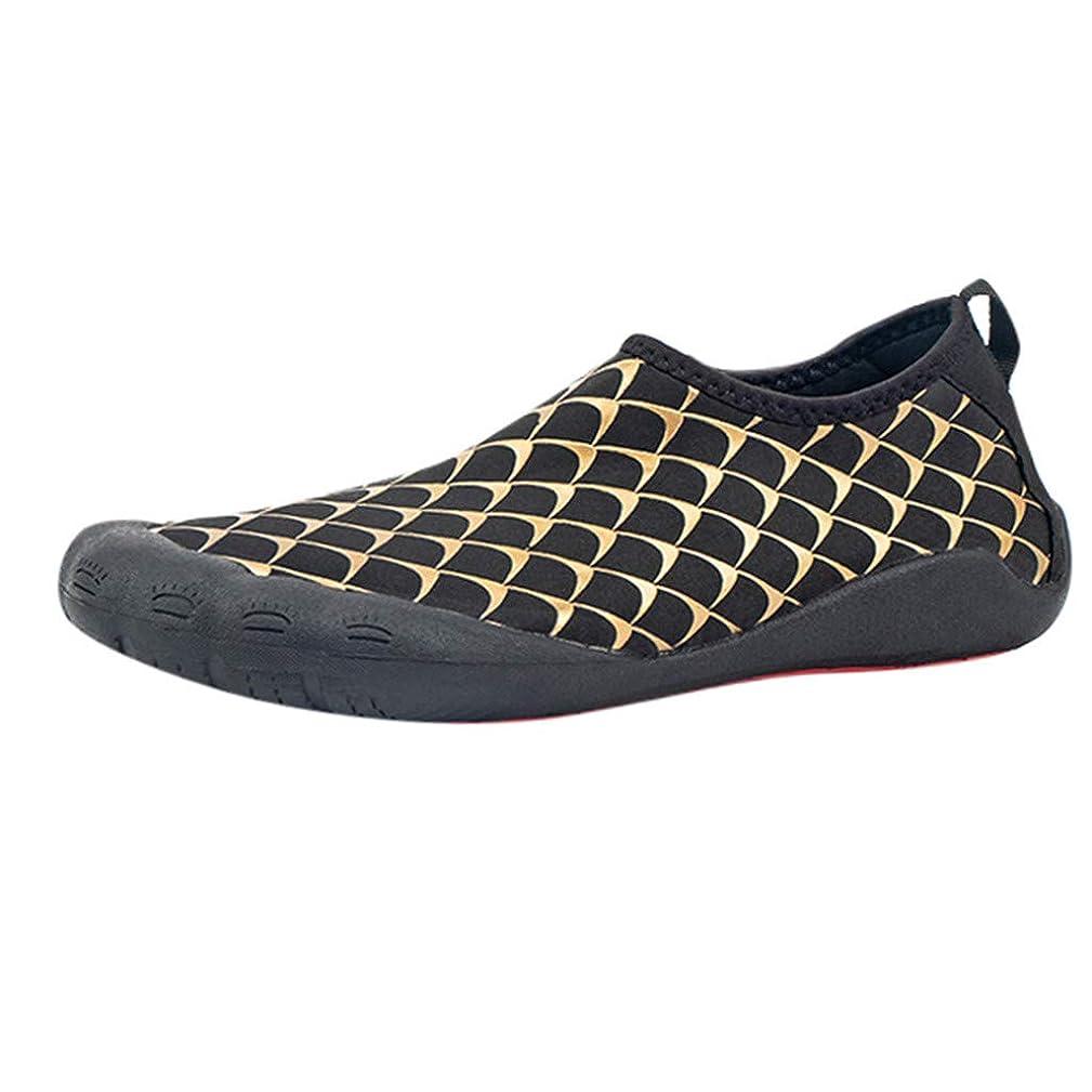 JJLIKER Mens Water Shoes Lightweight Quick Dry Non-Slip Barefoot Beach Shoes Rubber Sole Aqua Socks Pool Swim Surf Yoga