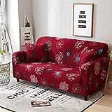 WXQY Funda de sofá Floral Funda de sofá elástica Todo Incluido Funda de sofá Antideslizante combinación de Funda de sofá de Esquina en Forma de L A31 4 plazas