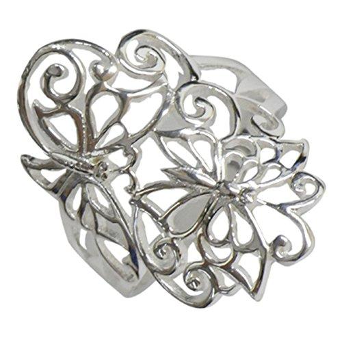 Chic-Net Silberring Ring 925er Sterling Silber Damen Ringe Schmuck filigran Schmetterlinge 54