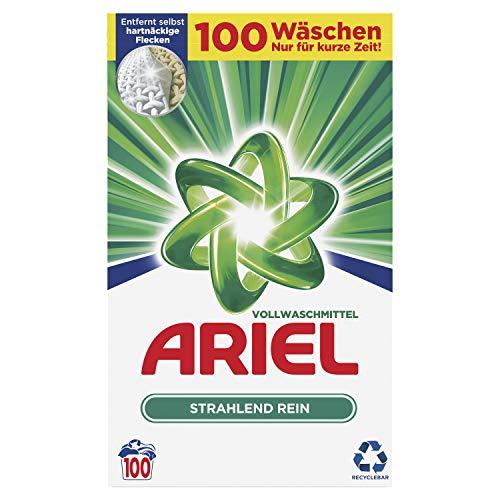 Preisvergleich Produktbild Ariel Vollwaschmittel Pulver Strahlend rein,  6.5 kg,  2er Pack (2 x 100 Waschladungen)