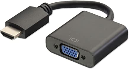 Terabyte HDMI to VGA Converter Adapter Cable (Black)
