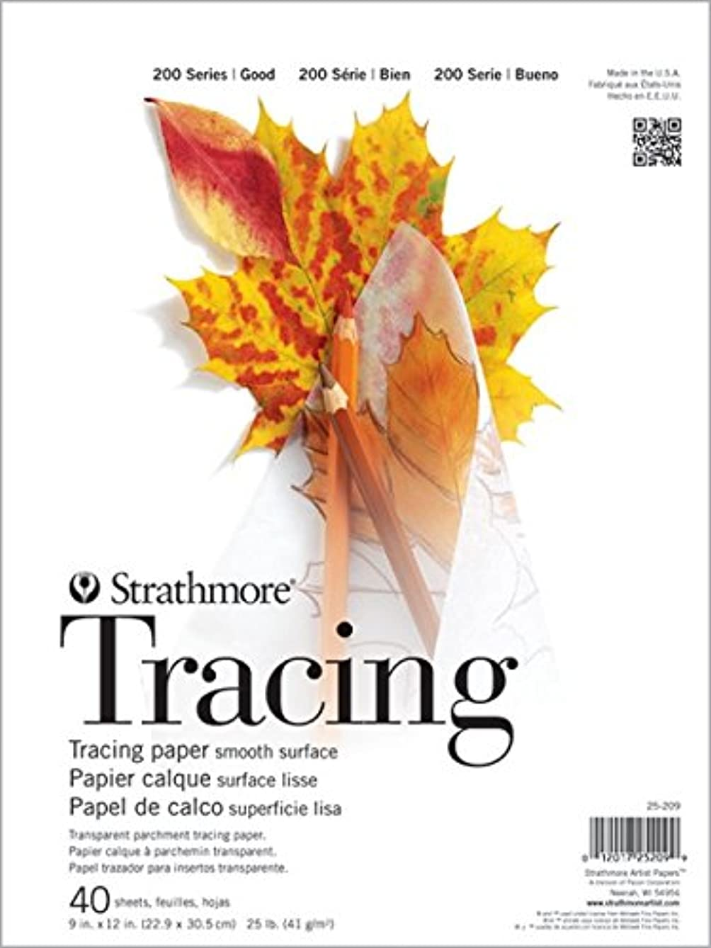 Strathmore ((25-209 STR-025-209 40 Sheet Tracing Pad, 9 by 12