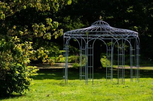 KUHEIGA Stabiler Gartenpavillon aus Metall, verzinkt 350cm, Pavillon in Schwarz, Weiß, Tannengrün oder Anthrazit