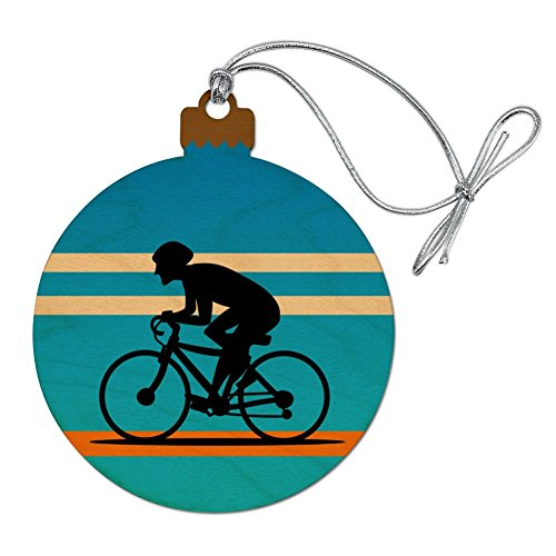 GRAPHICS & MORE Road Bike Cycling Biking Bicycle Wood Christmas Tree Holiday Ornament