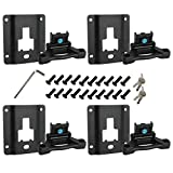 D-Lumina F150 Boxlink Tie Down Anchors Brackets & Truck Bed Cleats Plates Kit Fits Ford F-150 F-250 F-350 2015 2016 2017 2018 2019 2020 & Raptor Models - with Lock Buckle & Anti-Theft Screws, 4Pack