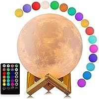 Logrotate 16 Colors LED 3D Print Moon Light