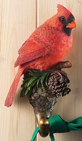 Life size realistic Cardinal Bird Wall Hook makes perfect gift