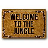 ruishandianqi Welcome To The Jungle Doormat Design Nonwoven Fabric Nonslip Indoor RugFloor Mat Funny Doormat 23.6'x15.7'