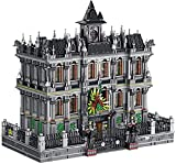 Kit Bloques Construcción Casas, 7537 Bloques Terminales, Juego Construcción Manicomio con Iluminación, Kit Modelo Bloques Asilo Lunático Grande, Modelo Construcción Casa Compatible con Lego