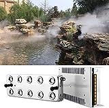 Vogvigo Mist Maker Fogger 10 Cabeza humidificador ultrasónico de Niebla Mist Maker Fogger humidificador con Transformador para jardinería y Uso de estanques