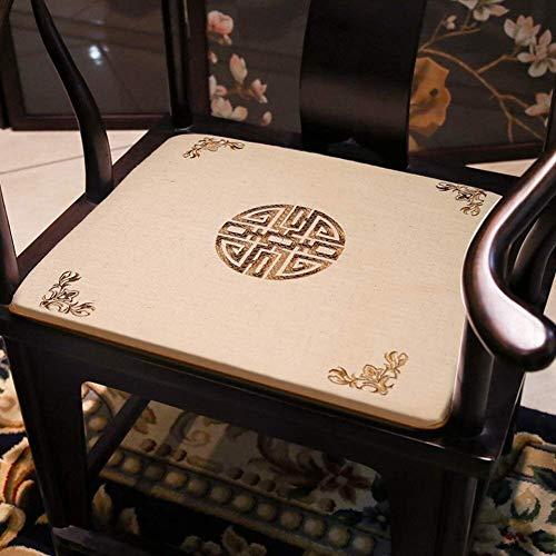 Mirui Chinese Rosewood Chair Cushion,futon Seat Cushion,non Slip Washable Chair Pad,tatami Floor Cushion,solid Wood Chair Cushion (Color : P, Size : 45x45cm(18x18inch))
