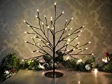 garden mile® Rustic 45cm Black Twig Tree Birch Christmas Tree