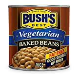 BUSH'S BEST Vegetarian Baked Beans, 16 Ounce Can (Pack of 12), Canned Beans, Baked Beans Canned, Vegetarian Food, Kosher, Source of Plant Based Protein and Fiber, Low Fat, Gluten Free