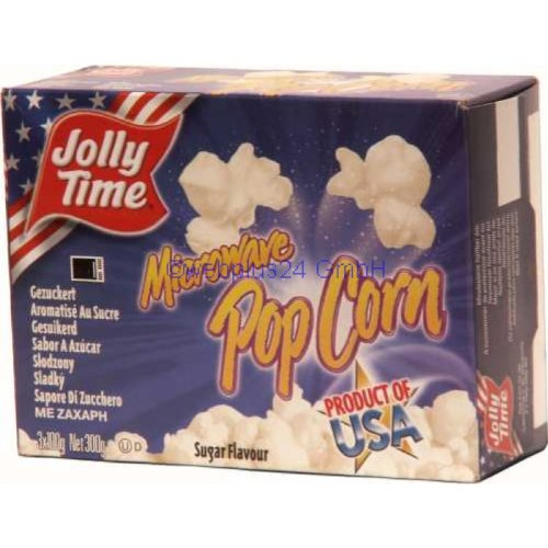 Jolly Time Microware Popcorn Sugar Flavor (3x100g)