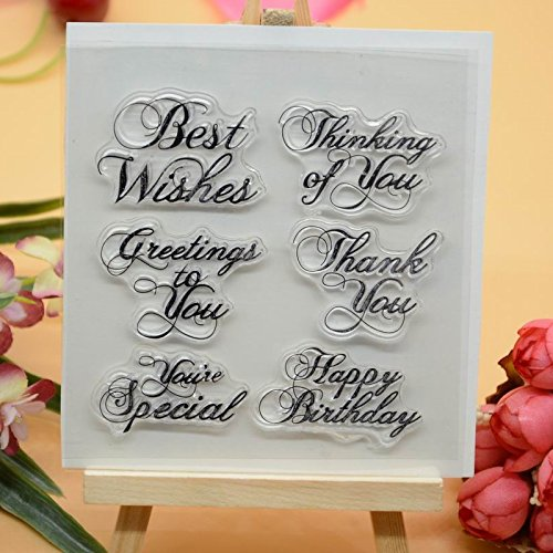 Welcome to Joyful Home 1pc Best Regards Sentiment Clear Stamp for Card Making Decoration and Scrapbooking