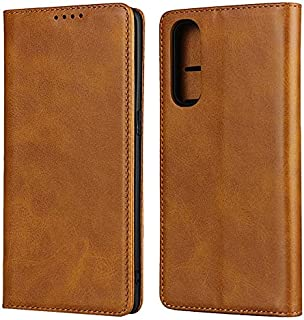 LINSMAO Cover Wallet Case for Oppo Reno 3 Pro 5G, Embedded Magnetic Closure Premium PU Leather Wallet Case with Holder/Car...