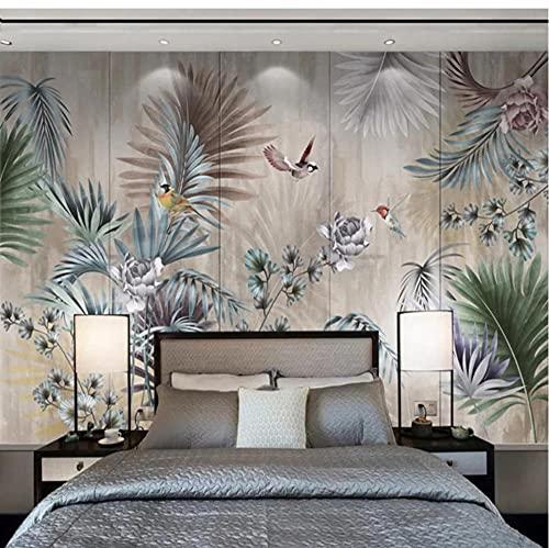 Papel tapiz 3D Planta Hoja Foto Mural de pared Sala de estar TV Sofá Dormitorio Telón de fondo Pintura de pared Decoración del hogar-S