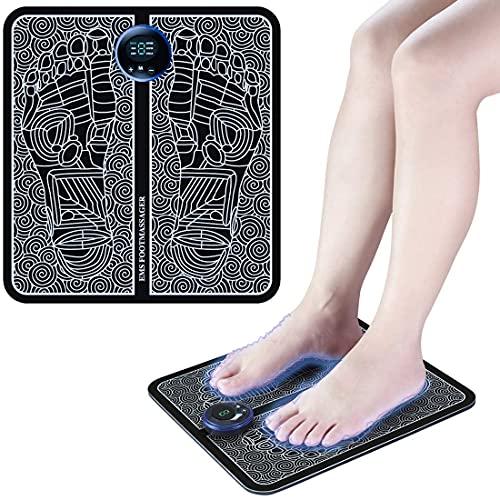 EMS Massaggio dei Piedi Massaggiatore Elettrico per Piedi Leg Foot Massaggiatore elettrico per Massaggi, allevia il Dolore Muscolare Rilassamento per Casa e Ufficio 6 modalità e 9 intensità