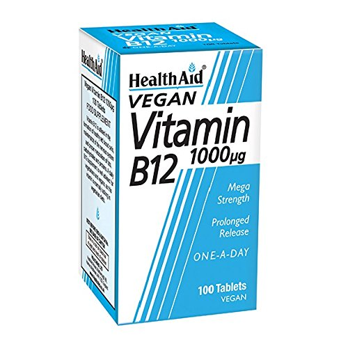 Health Aid Vitamin B12 (Cyanocobalamin) 1000Ã'µg - Prolonged Release, 100 tabletas