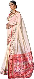 سويت شيرت هندي تقليدى متباين من النسيج وبلوزة حرير ناعم مهرجانات رسمي للنساء العيد ساري 5223