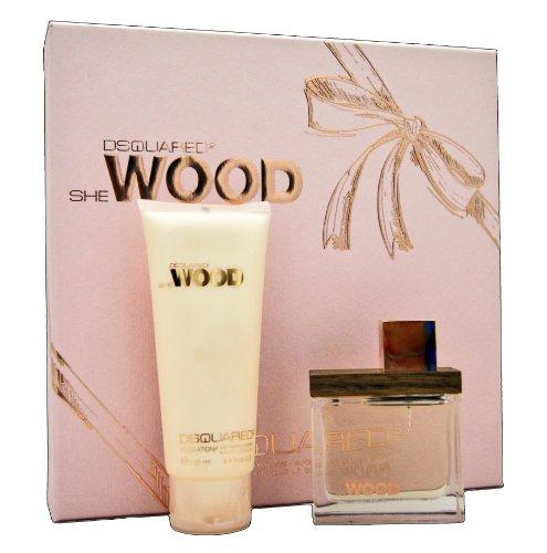 Dsquared 2 She Wood Giftset 50ml Eau De Parfum +100ml Body Lotion