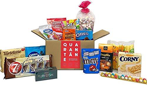 QUARANTÄNE-BOX - Überraschungsbox - Zufällige Mischung mit vielfältigen Snacks für gemütliche Abende zu Hause – süße, salzige und saure Leckereien
