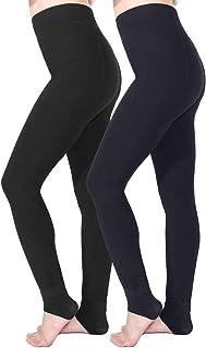 Tencoz Leggins Termicos Mujer, Leggins Invierno Mujer Leggings Invierno 2 Pack, Leggings Cintura Alta Elástico con Suave y...