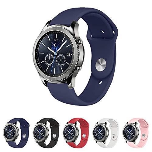 Pulseira Sport para Samsung Gear S3 Classic - Gear S3 Frontier - Galaxy Watch bt 46mm (Azul Marinho)
