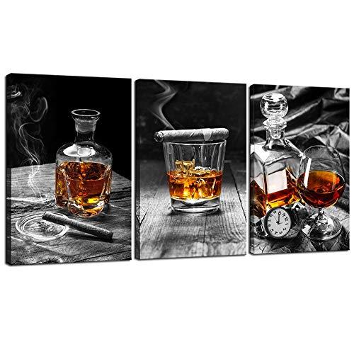 sechars - Canvas Prints Wall Art,Cigar Whisky Canvas Wall Ar...