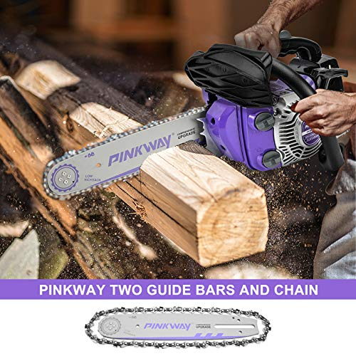 PINKWAY Top Handle Gas Powered Lightweight Chainsaw